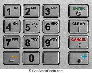 atm, telclado numérico