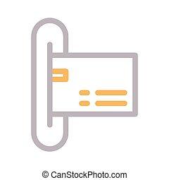atm thin color line vector icon
