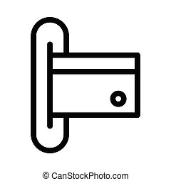 atm thin line vector icon