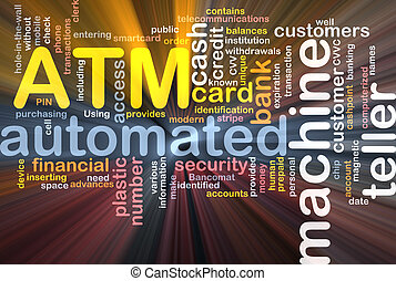 ATM word cloud box package