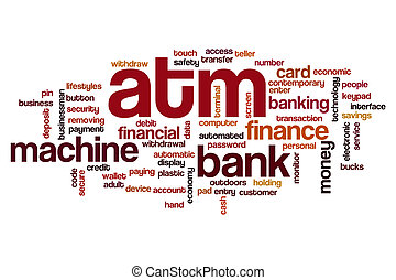 ATM word cloud concept