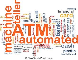 ATM word cloud - Word cloud concept illustration ATM...