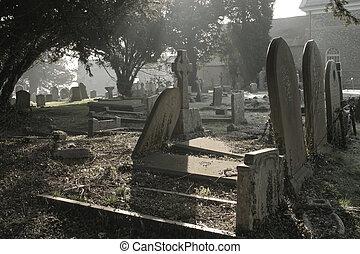 atmosférico, cemitério