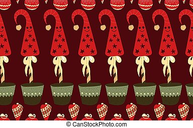 atmosphere.., よい, お祝い, pattern., seamless, 年, spirit., 新しい, クリスマス