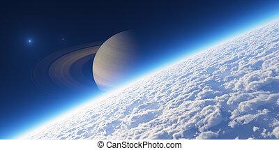 atmosphere., 元素, ......的, 這, 圖像, 提供, 所作, nasa.