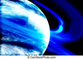 atmosphere, blue, glow