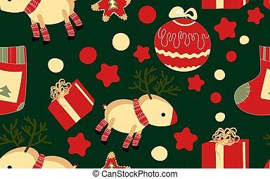 atmosphere.., jó, ünnepies, pattern., seamless, év, spirit., új, karácsony