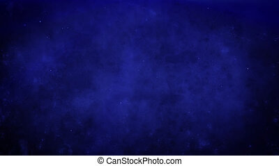 Atmospheric deep blue grunge background with fog, rays of ...