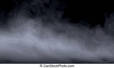 Atmospheric mystical floating fog, realistic cloud of smoke...