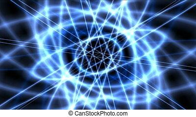 atom blue orbit