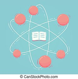 Atom Book Flat Illustration