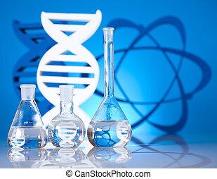 Atom, Chemistry formula background - Atom, Chemistry formula...