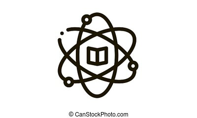 Atom Chemistry Study Icon Animation