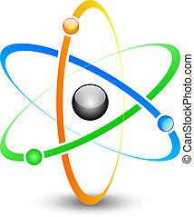 atom - Vector illustration of colorful atom