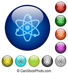 Atom color glass buttons