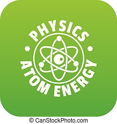 Atom energy icon green vector