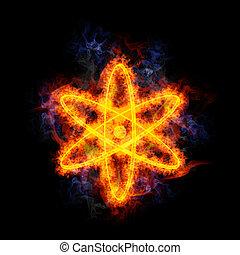 atom., fiery