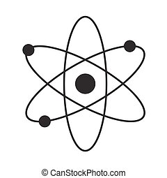 Atom flat isolated icon vector illustration design