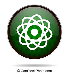 atom green internet icon