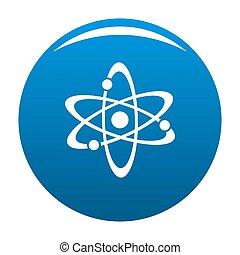 Atom icon blue