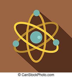 Atom icon, flat style