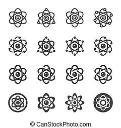 atom icon set