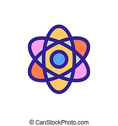 Atom icon vector. Isolated contour symbol illustration