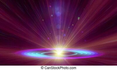 atom, lekki, galaktyka, promień, 4k