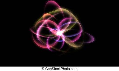 atom, lekki promień, 4k, energia