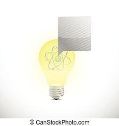 atom light bulb illustration design