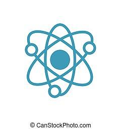 atom medical symbol line icon
