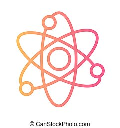 atom medical symbol linear gradient style icon