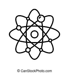Atom model line icon, concept sign, outline vector illustration, linear symbol.