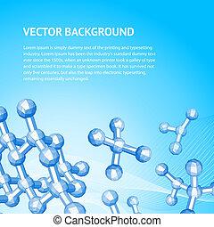 Atom, molecule. - Atom background, molecule of diamond....