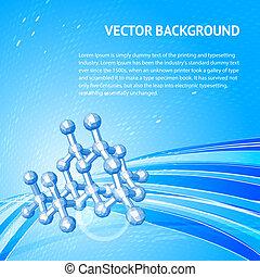 Atom, molecule. Vector Illustration, eps 10, contains...
