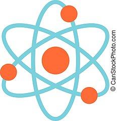 Atom Molecule symbol vector icon