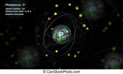 Atom of Phosphorus with 15 Electrons in infinite orbital ...