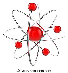 atom on white
