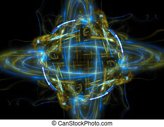 Atom or planet fractal - Here is a fractal that can double...