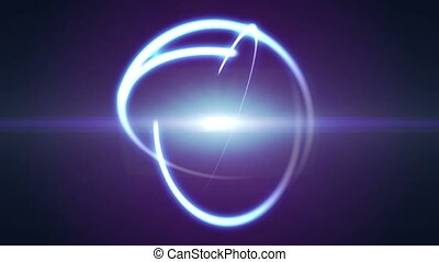 atom orbit ray light abstract