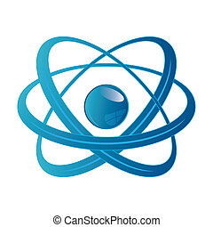 Atom part on white background.
