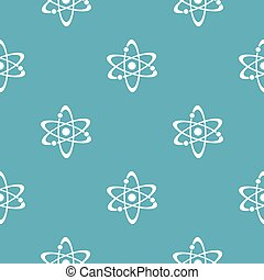 Atom pattern seamless blue