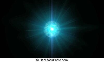 atom ray pulsing