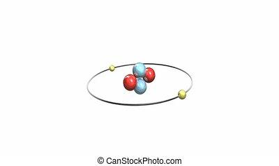 atom., seize, hélium, seconde, boucle