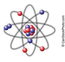 Atom - illustration on a white background