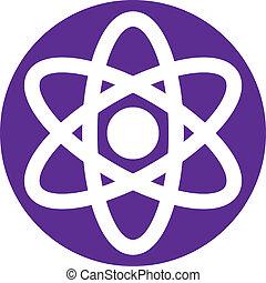 Atom  symbol, abstract icon, vector symbol