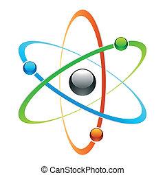 Vector illustration of an atom symbol