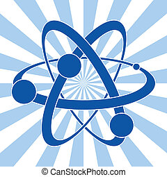 atom, symbol, wissenschaft, abstrakt, vektor