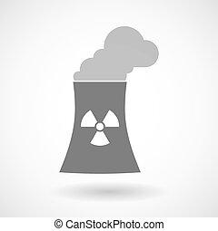 atomar, station, illustration, magt