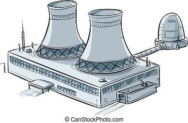 atomar, station, magt